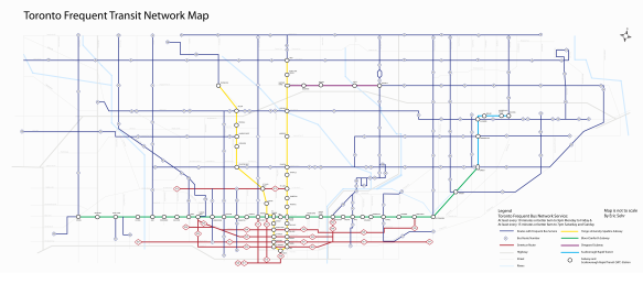 Toronto Frequent Transit Network Map