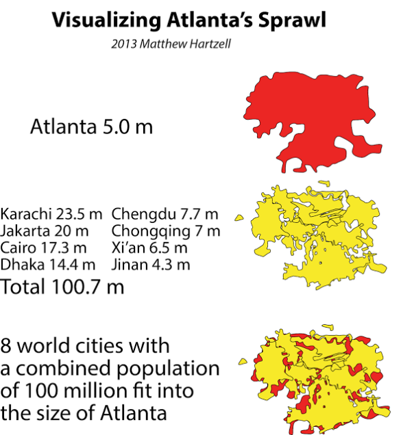 Visualizing Atlanta's Sprawl by Matt Hartzell
