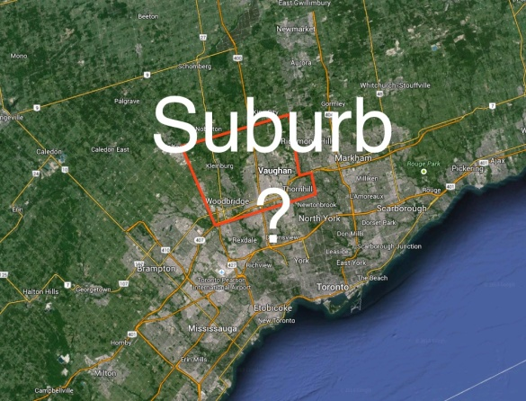 Is Vaughan a Suburb?